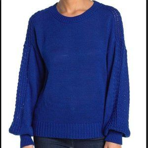 Abound NWT Sz M blue sweater knit long sleeve wome